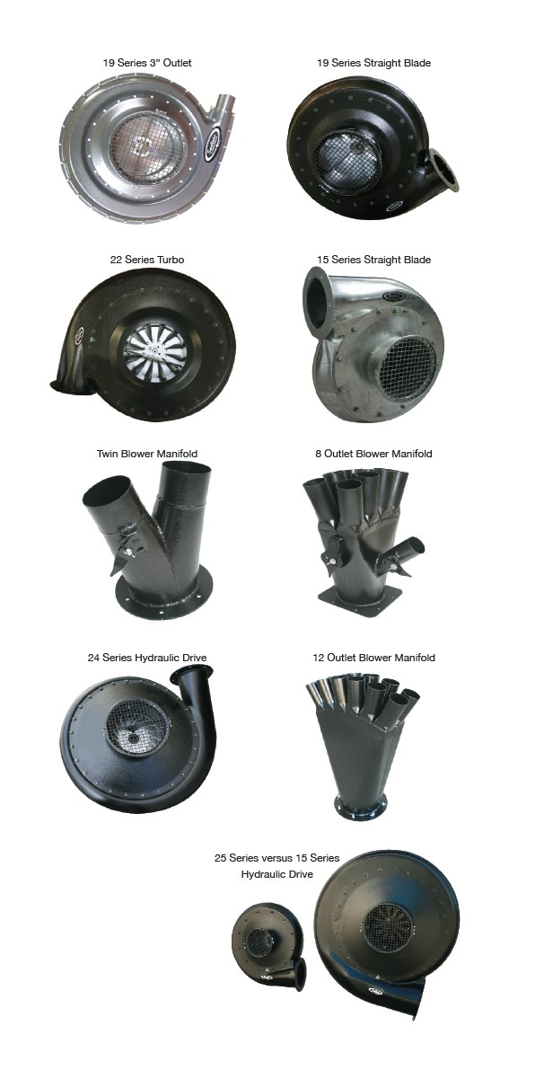 The range of Smallaire designed and manufacturered Blowers